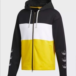 ADIDAS ORIGINALS OUTLINE TREFOIL ZIP HOODIE MENS